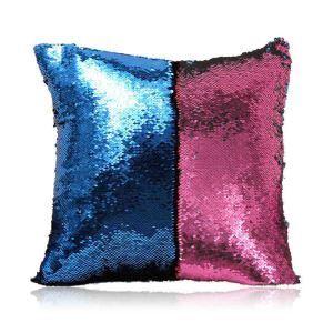 Taie de coussin 2 couleurs magique bleu et rouge 40*40cm