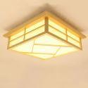 Lampe de plafond LED moderne en bois massif pour salle d'étude chambre