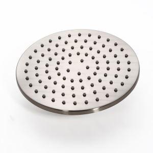 Pommeau de douche rond pivotant en laiton de 8 ''/ 10'' / 12 '' fini en nickel brossé