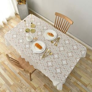 Nappe de table en dentelle délicate élegante jacquard style coréen