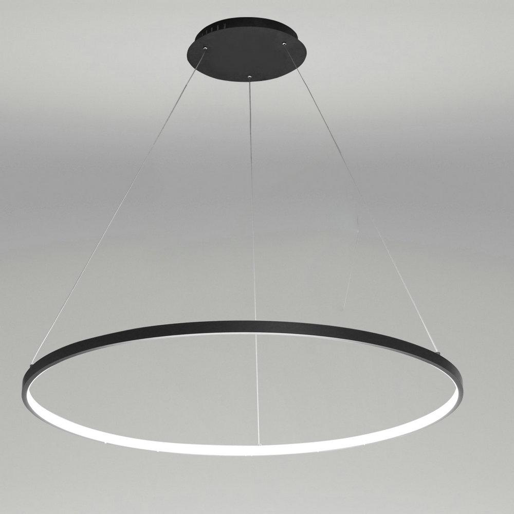 Suspension Led Noir Rond Luminaire Design Pour Salon Salle à