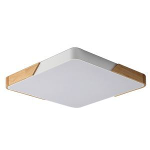 Plafonnier LED contemporain carré H5cm à 4 couleurs