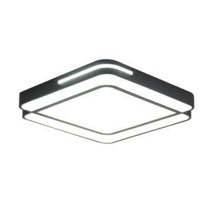 Plafonnier LED contemporain carré H13cm pour chambre salle d'étude
