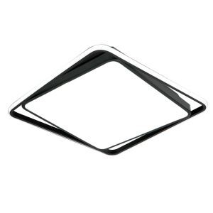 Plafonnier LED carré noir blanc pour salle chambre, simple moderne