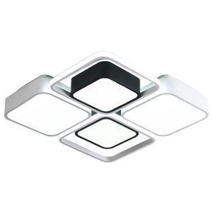 Plafonnier LED Design Carré Géométrique en Blanc Noir