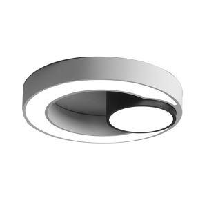 Moderne Plafonnier LED Rond Blanc H9cm pour Chambre/salon/salle d'étude