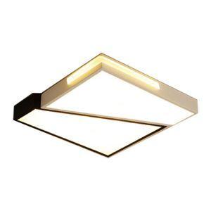 Plafonnier LED carré H7.5cm pour Chambre/salon/salle d'étude, simple moderne