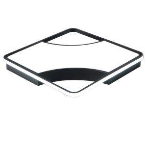 Plafonnier LED carré noir blanc H9cm pour chambre salle restaurant
