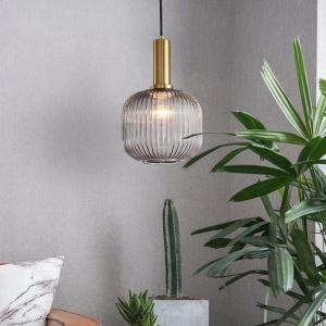 Suspension lanterne moderne en verre fer pour chambre à coucher salon