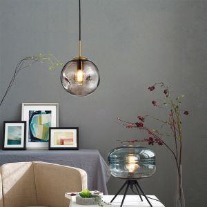 Suspension en verre fer style simple boule pour chambre à coucher salle