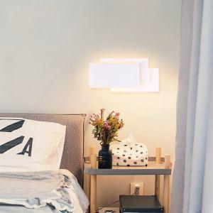 Applique murale LED en acrylique L36cm 3 rectangles redoublés blanc pour chambre salle