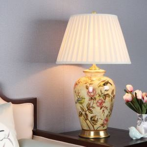 Lampe à poser moderne E27 porte-lampe, base en cuivre