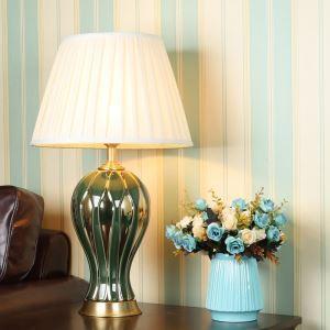 Lampe de table en céramique avec rayures typiques lampe de chevet