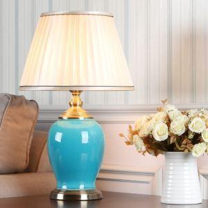 Lampe à poser avec vase en cuisson peinture pour chambre à coucher