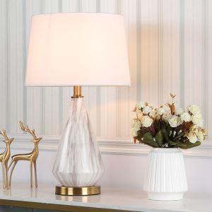 Lampe à poser moderne vase en céramique avec des rayures marbres