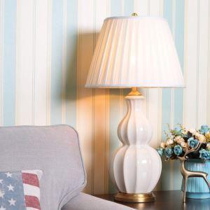 Lampe de table à forme gourde en céramique minimaliste moderne