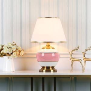 Lampe de table minimaliste moderne en céramique pour chambre à coucher