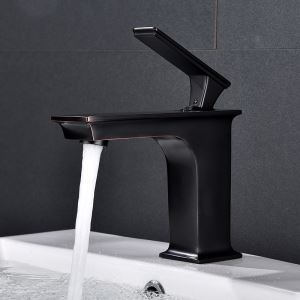 Robinet de lavabo ORB noir pour salle de bains