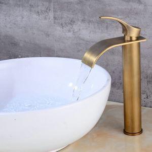 Robinet chaud / froid en laiton antique pour salle de bains