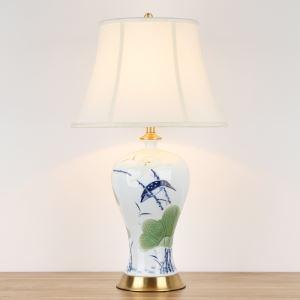 Lampe de Table en Porcelaine Orientale pour Salon/Chambre à Coucher