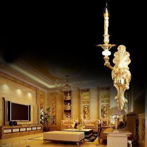 Lampe murale de luxe feuille d'or applique murale  en cristal de jade