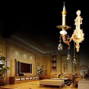Applique murale en cristal et jade pour chambre, mode européenne