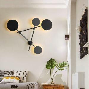 Applique murale noire élégante conçu pour chambre à coucher/salon/restaurant