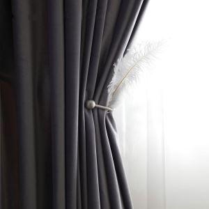 Rideau occultant polyester épais couleur pure américain pour chambre à coucher