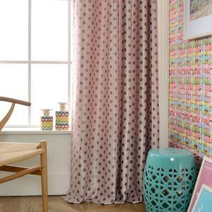 Rideau occultant en polyester jacquard point pour chambre à coucher salon
