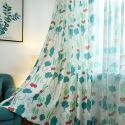 Rideau tamisant en polyester imprimé radis enfant pour chambre à coucher salon