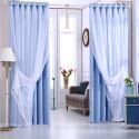 Rideau occultant en polyester couleur pure coréen pour chambre à coucher salon