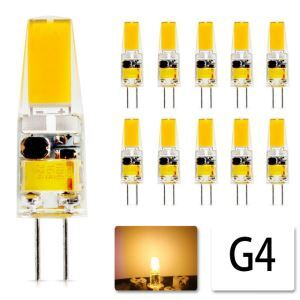 Ampoule G4 COB 6W blanc chaud nombre 10 pour une paire