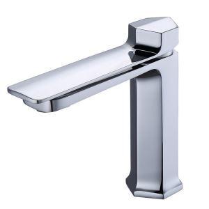 Mitigeur de lavabo chromé moderne H17.2cm pour salle de bains