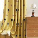 Rideau occultant soldat drapeau britannique jaune en polyester pour chambre à coucher