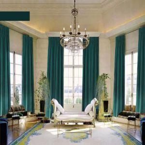 Rideau occultant en velours couleur unie luxueux pour chambre à coucher salon