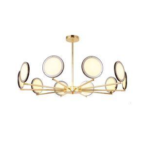 Plafonnier LED en fer acrylique branche rond pour salon chambre à coucher