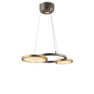 Suspension LED en fer verre ronde moderne pour salle chambre à coucher