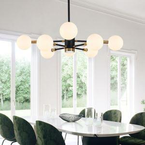 Suspension à multi-lampes H77cm pour chambre, blanche/transparente