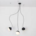 Suspension à 3 lampes nordique abat-jour de boule en verre pour salle à manger