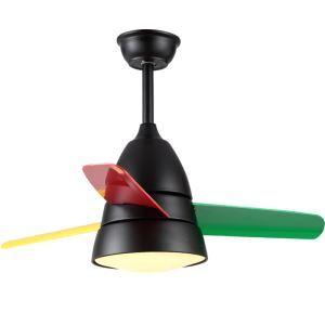 Suspension ventilateur LED en acrylique multicolore pour chambre salle