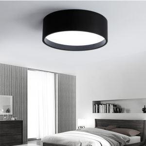 Lampe de Plafond Rond LED Contemporain Noir/Gris pour Chambre