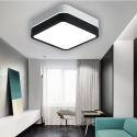 LED Lampe de Plafond Luminaire Contemporain en Noir Blanc pour Chambre Salle