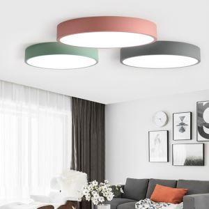 Plafonnier LED rond multi-couleurs au choix pour salon/chambre