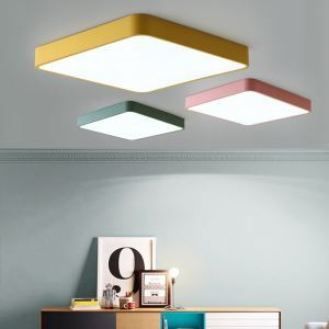 Lampe de plafond LED moderne carré luminaire pour chambre salle séjour