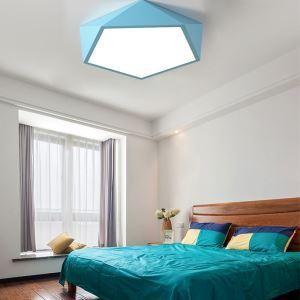 Contemporain plafonnier LED forme diamant H10.5cm pour restaurant/salon/chambre