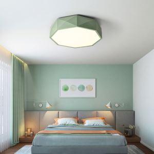 Lampe de plafond LED moderne forme géométrique, multi-couleurs au choix