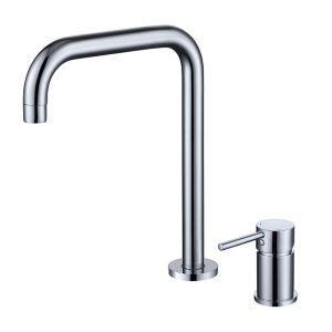 Robinet de lavabo classique en laiton massif H30cm pour salle de bains