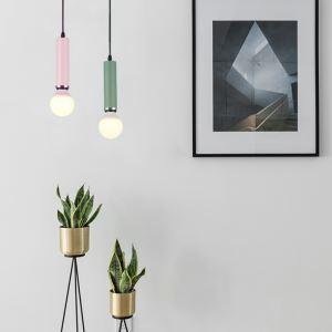Lampe de plafond en aluminium peinture petite suspension multicolore pour salon chambre