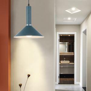 Lustre en aluminium peinture suspension multicolore européenne pour salon chambre couloir