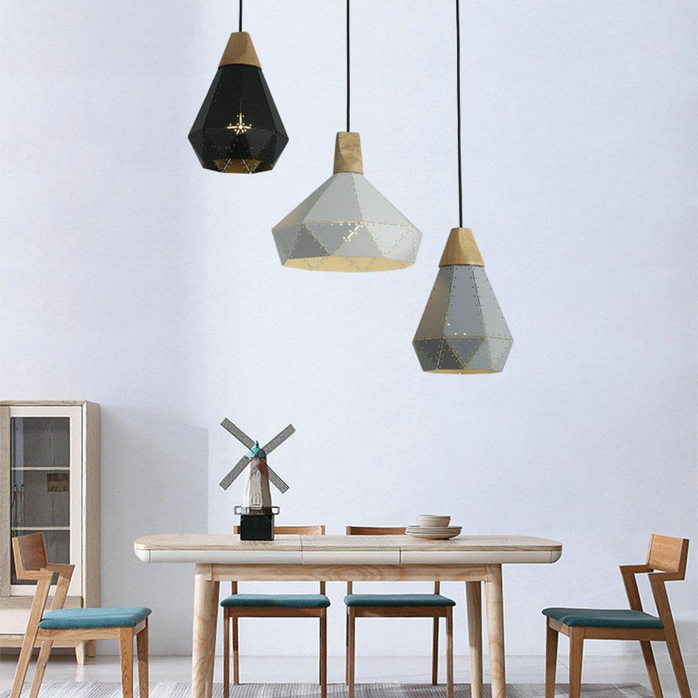 Lampe Salon Salle À Manger lustre moderne suspension en aluminium à 3 lampes pour salon